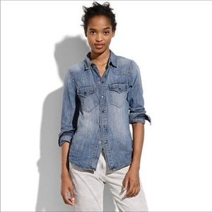 Madewell Western Jean Shirt in Desert Willow Wash